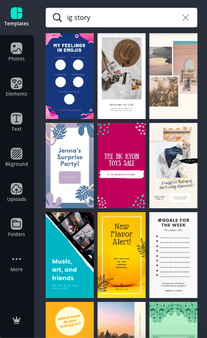 CANVA ig story templates